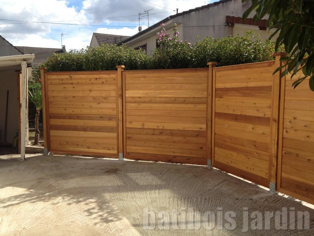Cloture cloture bois for Cloture de jardin contemporaine