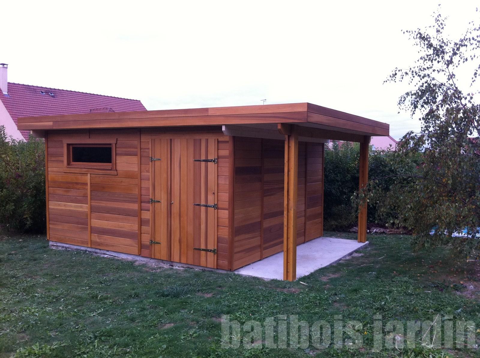 Beautiful abri de jardin toit plat avec bucher pictures for Abri de jardin toit plat avec auvent
